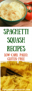 Spaghetti squash recipes -- Spaghetti squash is a delicious and healthy vegetable. Check out these terrific spaghetti squash recipes! Click to read more or pin to save for later.