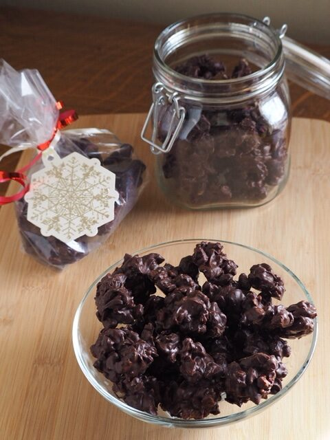 photo of homemade chocolates in bowll and jar