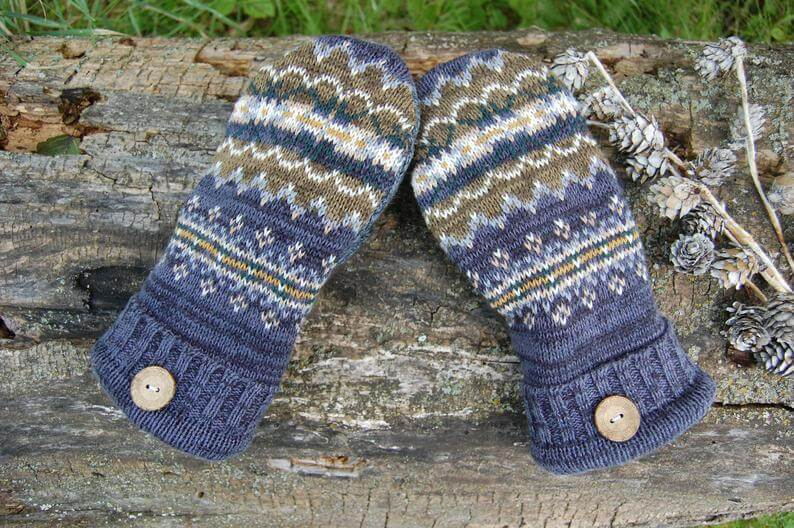 photo of upcycled sweater mittens