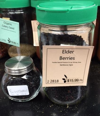 immune-boosting elderberries
