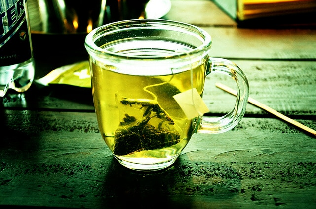 natural remedies for allergies -- photo of green tea