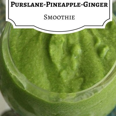 Anti-Inflammatory Smoothie with Purslane, Pineapple, and Ginger