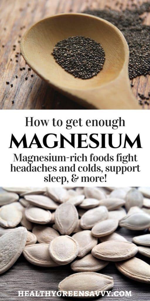magnesium benefits foods high in magnesium pin