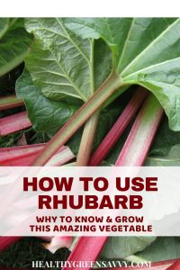 Amazing rhubarb recipes! 10 wonderful uses for rhubarb, a healthy, low-calorie vegetable used as a fruit. Click to read more or pin to save for later. #rhubarbrecipes #healthytreats #ediblelandscaping #rhubarb #healthyfood #rhubarbcrisp #healthyrecipes