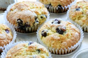 health benefits of potassium -- photo of blueberry muffins