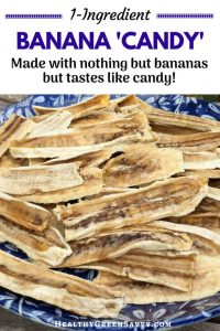 Dehydrating bananas makes an *unbelievably* delicious healthy treat! Perfect for satisfying a sweet tooth while getting vitamins, minerals, and more. #healthytreat #dehydrating #driedbananas #dehydratingrecipes #foodpreservation #healthysnacks #vegan #glutenfree