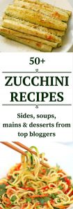 Zucchini recipes. Great ideas for your surplus zucchini from top bloggers. Click to read more or pin to save for later.