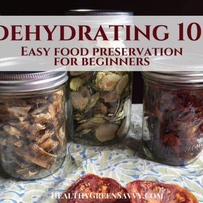 Dehydrating food is easy, economical, and lets you enjoy the bounties of your summer garden all year round! Never tried dehydrating food before? Here's what you need to know to get started. #dehydratingfood #foodpreservation #greenlivingtips #dehydratefood #dryingfood #preparedness #prepper #camping #hiking #snacks #dehydrator