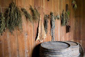 food preservation methods -- herbs drying