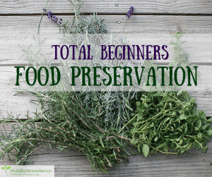 Food preservation methods -- cover photo of dried herbs with text overlay