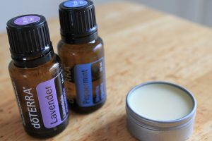 DIY deodorant -- photo of essential oils and homemade salve