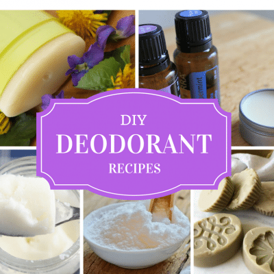 DIY Deodorant recipes from savvy green bloggers. Easy recipes to save money, reduce chemical exposure and reduce waste. Click to read more or pin to save for later.
