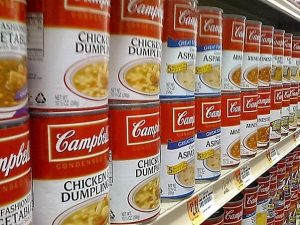Is canned food healthy? aisle of soup cans