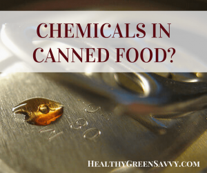Is canned food healthy? Cover photo closeup of can with text overlay