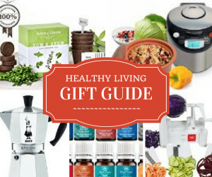 Healthy gift guide! Perfect presents to help everyone on your holiday list live healthier! Click to read more or pin to save for later,
