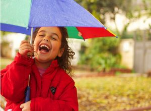 reduce cortisol -- photo of child laughing