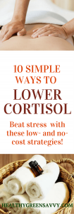 reduce cortisol -- pin with photos of someone being massaged and towels with essential oils