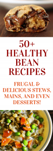 Healthy bean recipes: Don't underestimate the power of beans! Frugal, healthy & delicious recipes. Healthy bean recipes | Desserts made with beans | Bean soups, mains & sides| #plantbaseddiet #eatfortheplanet
