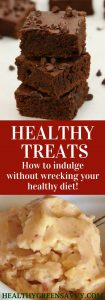Healthy treats can help keep you on track with your healthy eating goals. Here are some delicious buthealthier ways to treat yourself! #healthytreats #healthydesserts #healthyrecipes #healthydessertrecipes