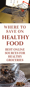 Eat healthy on a budget! Online sources for healthy bargains. Click to read more or pin to save for later. | frugal | healthy food