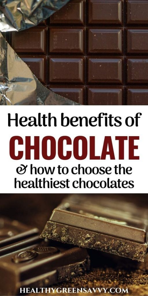 pin with photos of chocolate bars and title text