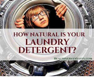 Natural laundry detergent: