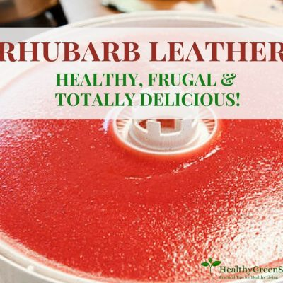 How to Make Homemade Fruit Leather from Rhubarb
