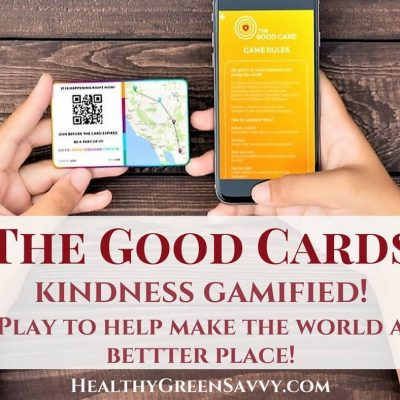 Try the new game that spreads happiness and makes the world a better place! The Good Cards lets you track the ripple effect of your acts of kindness. Check it out and join in!