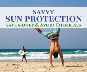 sun protection -- cover photo of man doing cartwheel in sand by ocean