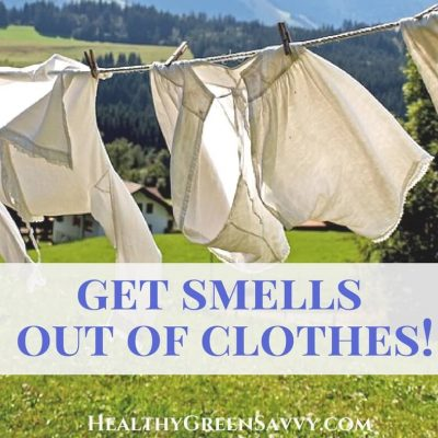 (Product review) How to Get Smell out of Clothes? Removing the smell from secondhand clothes can be tricky! Here's an all natural product that can tackle some of the worst odors from secondhand clothes. | green cleaning | nontoxic living | chemical sensitivity | green products |