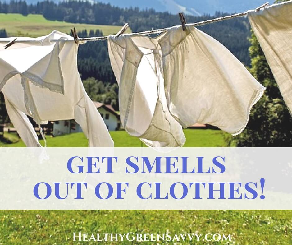 How to Get Smell out of Clothes (Green Laundry Hack!)