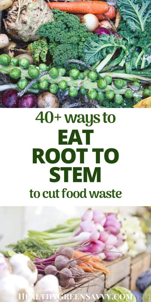 root to stem -- pin with photo of apple scraps and fall veggies