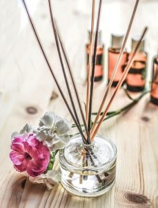 how to use essential oils -- photo of reed diffuser