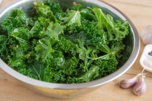 healthy kale recipes -- photo of chopped kale in bowl
