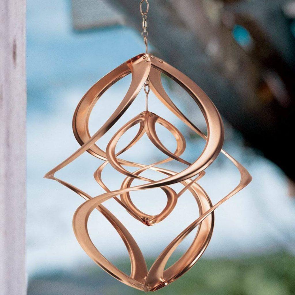 photo of copper wind spinner from Viva Terra