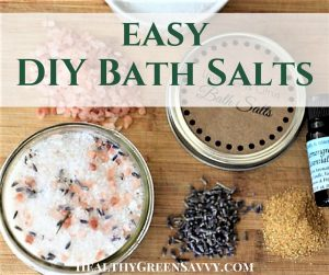 These DIY bath salts are RIDICULOUSLY easy! Nothing more than mixing some epsom salts with a little essential oil, but the people you give it to will love it. #bathsalts #naturalliving #homemadegifts #DIY