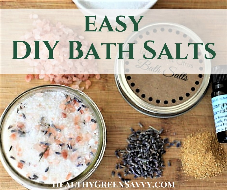 cover photo of easy homemade bath salts