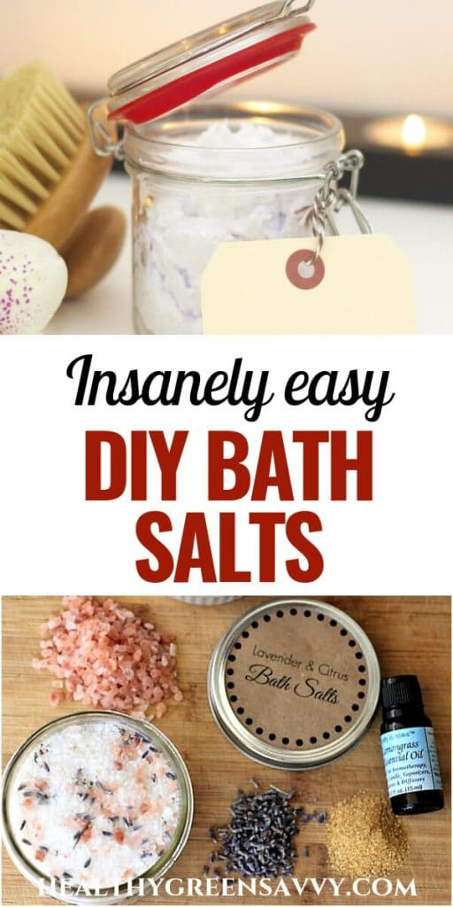 pin with photos with bath salts and herbs