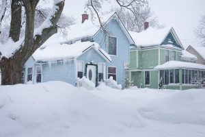 how to save energy -- photo of house in snow