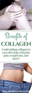 Benefits of collagen: Collagen may improve joint pain, help with weight loss and much more! Find out how adding collagen to your diet may benefit your health. #collagen #health #wellness #skincare #antiaging #health #collagenbenefits