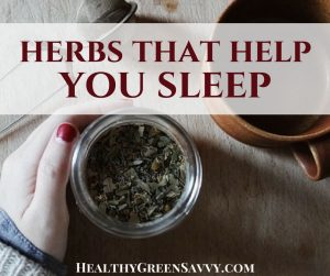 herbs for sleep -- cover with photo of jar of herbs, tea infuser and cup