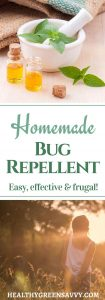 Homemade bug repellent is effective and easy to make. FInd out how to skip the chemicals but still keep bugs at bay! #DIYbugrepellent #homemadegbugspray #naturalbugspray