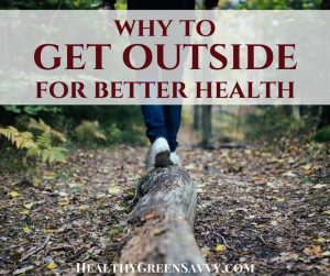 Get outside for a ridiculously easy health hack! There are some amazing health benefits to spending time outdoors. Find out how to get your healthy dose of nature. #outside #healthbenefitsofnature