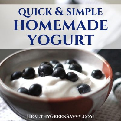 Homemade yogurt is surprisingly simple and will save you big on yogurt. This streamlined method for homemade yogurt takes me 10 minutes per week and saves us over $1000 per year on organic yogurt! No special equipment or skills needed. #yogurt #homemadeyogurt #howtomakeyogurt #makeyourown #traditionalcooking #realfoodd #homefermenting #probiotic