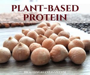Vegan protein sources -- cover photo of legumes with title text