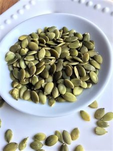 what are pepitas -- pumpkin seeds in dish