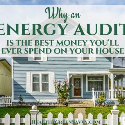 home energy audit -- cover photo of house with title overlay