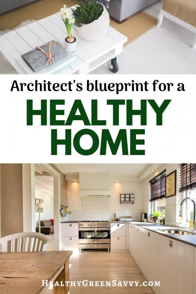 pin with photos of living room and kitchen with title text