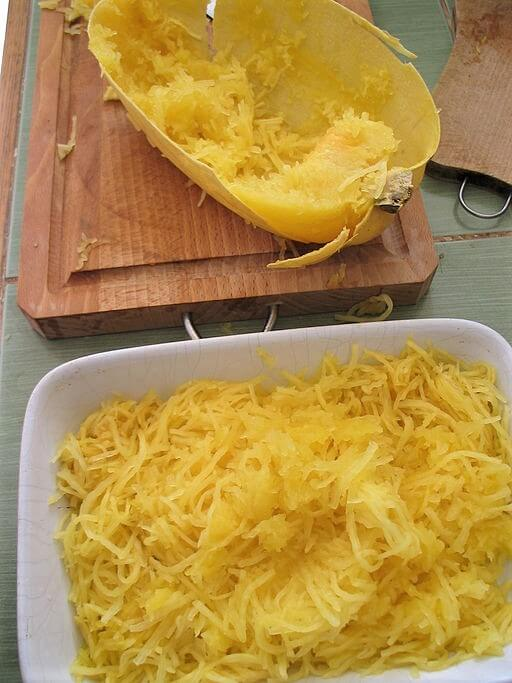 photo of baked spaghetti squash