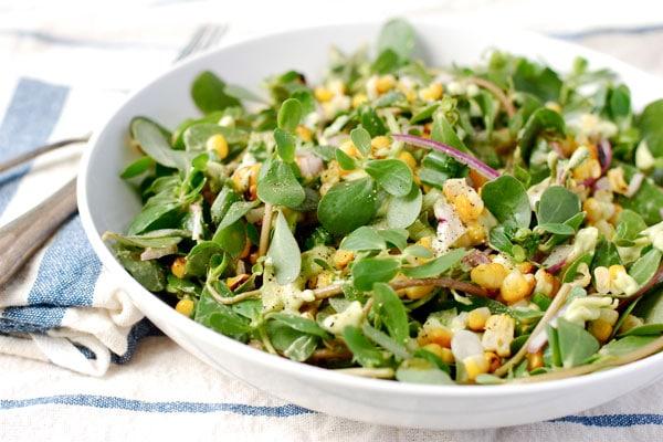 purslane recipes purslane salad from Brooklyn Supper